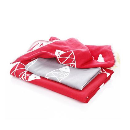 生活元素 年年有余浴巾套裝 MYY-GF312AB 全棉紗布浴巾柔軟毛巾套裝定制