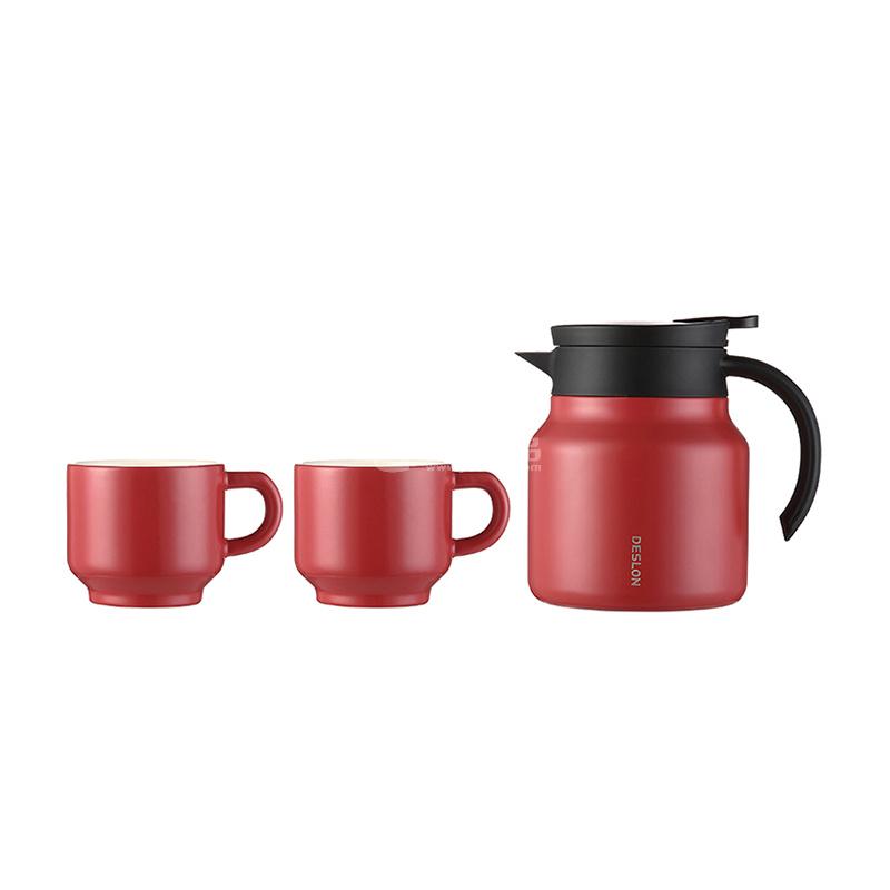 德世朗 隨享時光套裝 DSX-TZ018 一壺兩杯家用保溫壺茶杯水杯陶瓷杯馬克杯定制