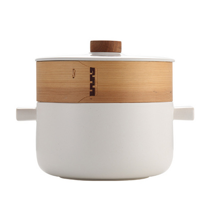 博堡 陶瓷煲湯鍋 養生湯煲 燉鍋 臻堡麥飯石蒸湯鍋定制