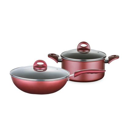 博堡 戀家不粘鍋兩件套 BDY-TZ603A 炒鍋湯鍋廚房組合不粘鍋兩件套定制