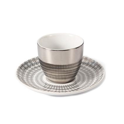 創意陶瓷鏡面杯創意 倒影反射卡通歐式陶瓷咖啡杯帶碟套裝定制