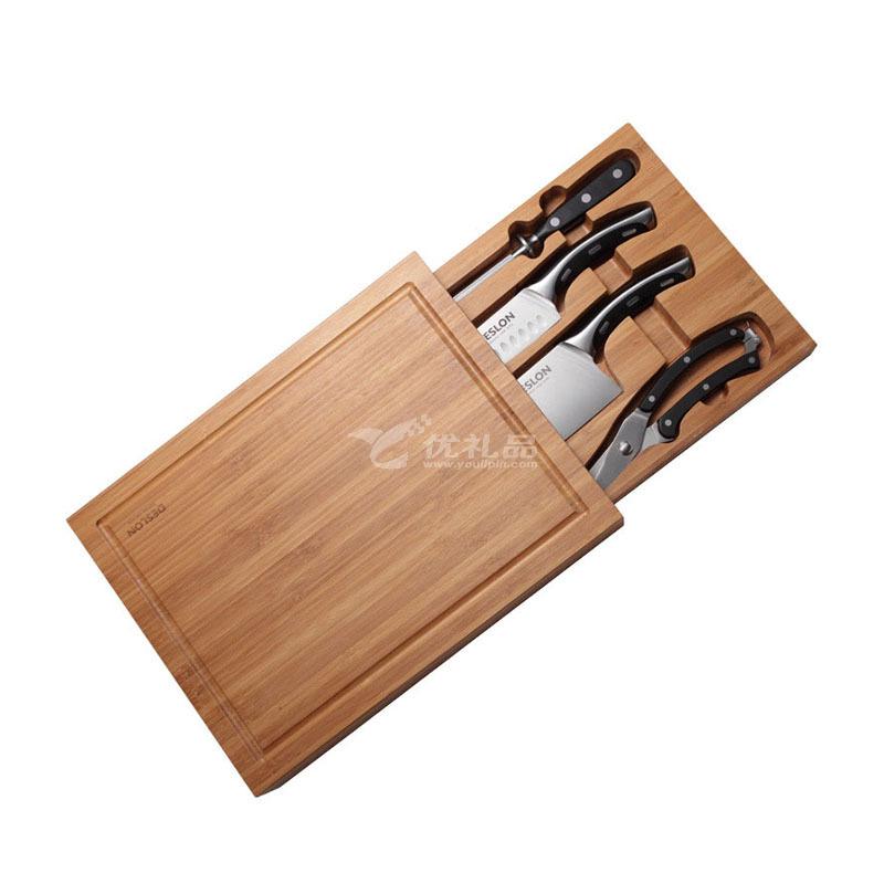 """德世朗 (DESLON)萊茵至尊五""""悅"""" 廚房刀具套裝組合五件套 LY-TZ001-5 刀具套裝定制"""