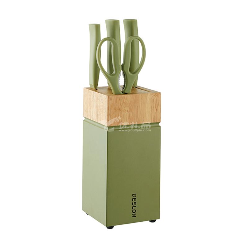 德世朗臻銳刀具五件套 綠色 ZR-TZ013-5GN 廚房工具套裝定制