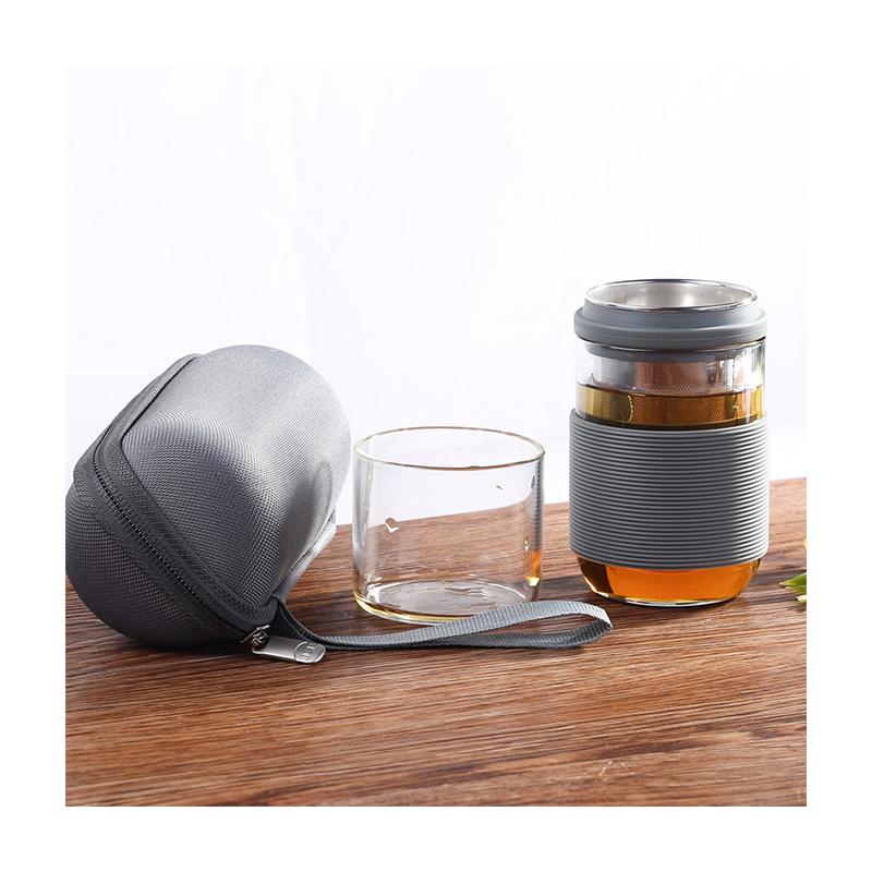 IKE一柯旅行茶具不銹鋼濾網茶具 YK-C206A 戶外旅行便攜式茶具定制