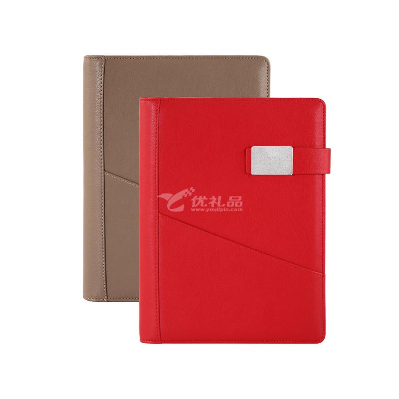 创意A5商务记事本 移动电源充电笔记本 充电本套装定制