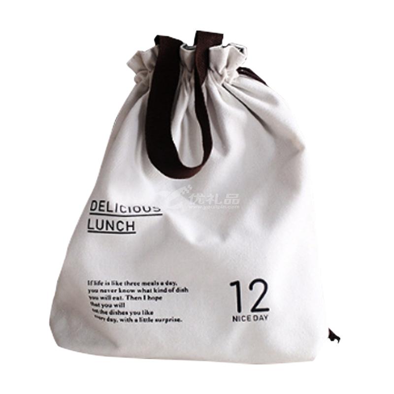 37度生活 原創束口手提便當袋 可愛清新手提包 時尚環保袋定制