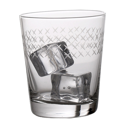37度原創 純手工刻花小號玻璃水杯 北歐風晶白料吹制冷飲杯玻璃杯定制