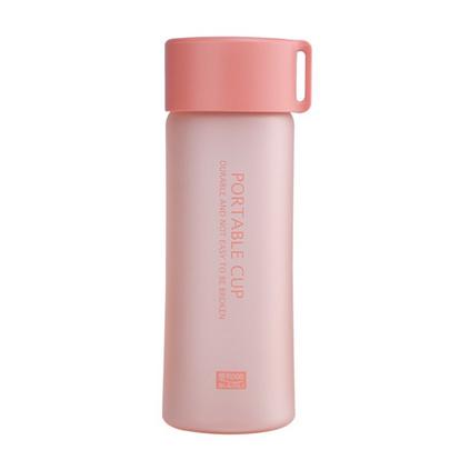 便利100磨砂便攜小巧隨身水杯 創意塑料防漏女生兒童杯子定制