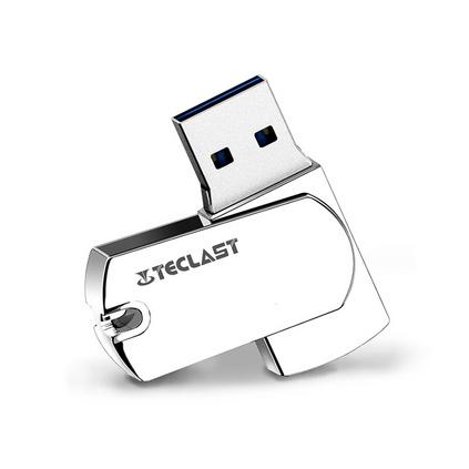 臺電鐳神u盤 16g 32g 64g USB3.0高速創意金屬防水旋轉U盤定制