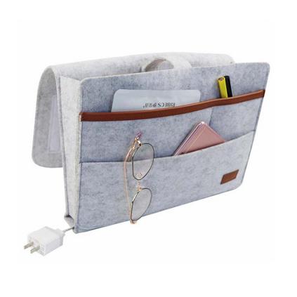 亞馬遜毛氈床頭掛袋創意家居宿舍收納袋床頭置物籃可定制