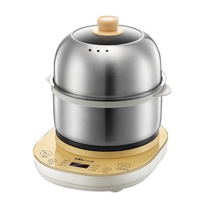 小熊(Bear)煮蛋器ZDQ-A14E6 迷你家用不锈钢多功能早餐机双层电蒸锅蒸蛋器定制