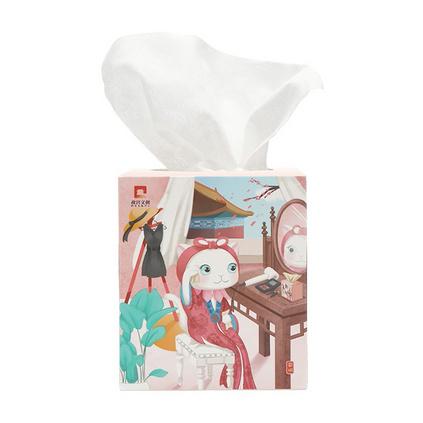 格格愛上班 全棉干濕兩用洗臉巾4盒裝 故宮聯合開發洗臉巾定制