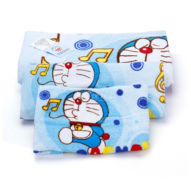 哆啦A梦 蓝胖子全棉卡通毛巾方巾浴巾礼盒装三件套沐浴用品定制 DM-12215