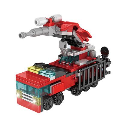 小铭星52009城市消防10合1拼插小颗粒积木创意赠品儿童益智玩具定制