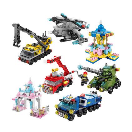 军事多变礼袋 儿童玩具益智玩具兼容乐高积木定制