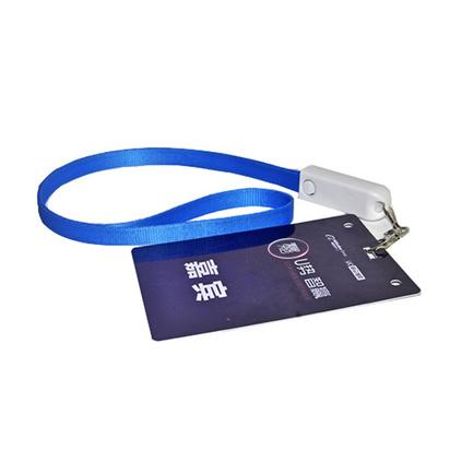三合一挂绳数据线 二合一手机挂绳充电线 吊牌挂绳手机数据线定制