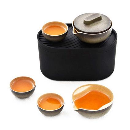 泊喜小巨蛋T1便攜式旅行功夫茶具海礁石限量版快客杯陶瓷茶具套裝定制