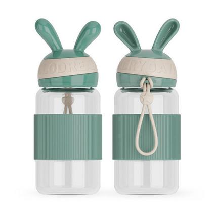 潮流创意个性潮兔玻璃杯便携简约水杯学生杯子定制