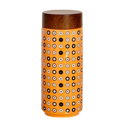 乾唐軒活瓷杯圓舞曲系列雙層隨身杯水杯陶瓷杯定制 350ml 誠心誠意淺桔黃+彩釉貼花