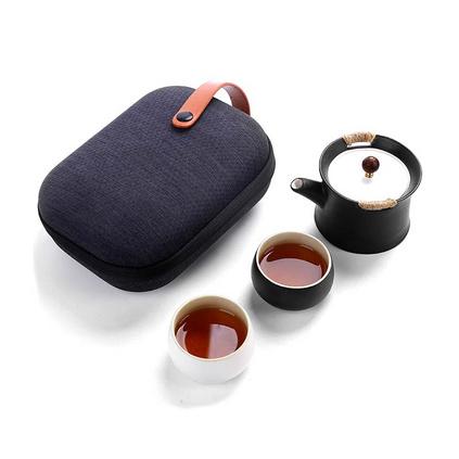 旅行茶具一壺二杯功夫茶具套裝便攜式功夫茶具定制