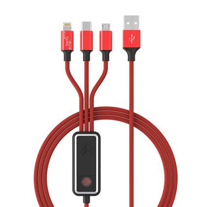樂默loomoo 可點煙數據線適用安卓Type-c蘋果11小米10pro/XSmax/華為充電線定制