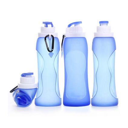 硅胶折叠水瓶 创意广告促销礼品杯500ML 摔不破的随手杯定制