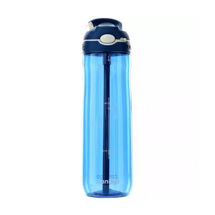 美国contigo康迪克塑料水杯 锁扣运动吸管杯750ml水杯定制
