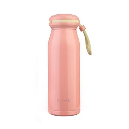 全語(QUANYU)380ml雙層真空304不銹鋼保溫杯加厚杯底小口徑優雅和風貝殼杯定制