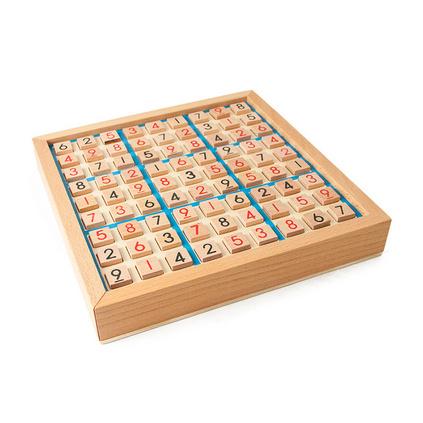 木制数独游戏 成人逻辑思维九宫格数独棋 儿童益智玩具定制