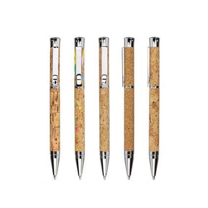 Legend创意旋动软木圆珠笔 金属笔广告笔定制