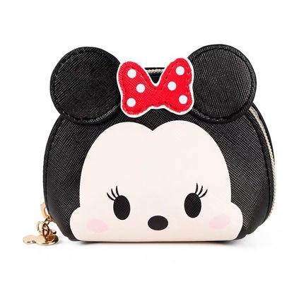 迪士尼米妮米奇卡通唐老鸭包包可爱毛绒斜挎包零钱包卡包定制