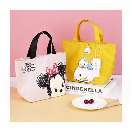 創意卡通可愛米奇米妮兒童成年實用防水飯盒袋便當袋定制