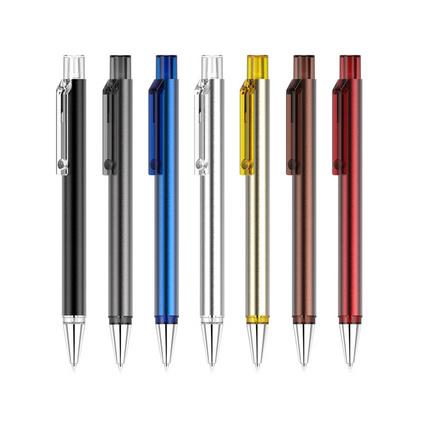 活动定制广告笔 黑色金属圆珠笔 促销企业礼品笔定制