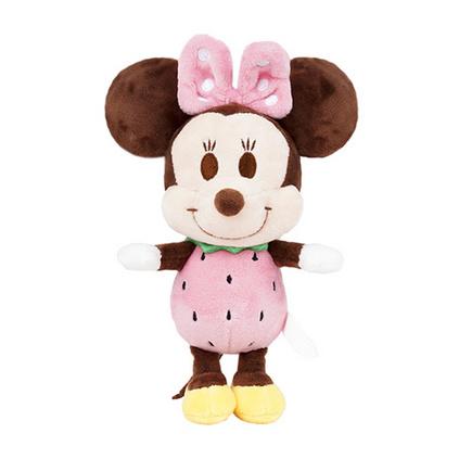 迪士尼正品米奇米妮毛绒玩具公仔钥匙扣挂件草莓米妮挂饰定制