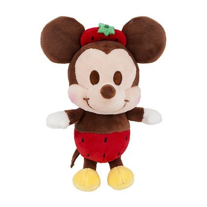 迪士尼正品米奇米妮毛绒玩具公仔钥匙扣草莓米奇挂件定制