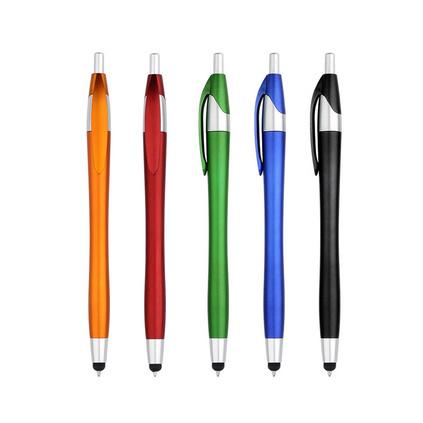 多功能圆珠笔 塑料硅胶笔头 按动触屏笔定制