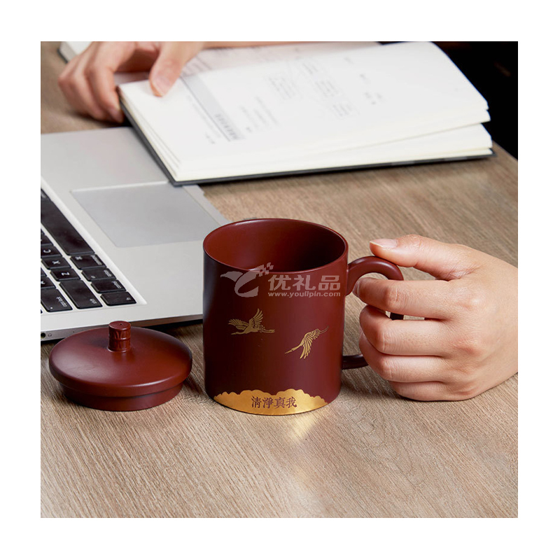 紫砂辦公杯醒茶器茶罐組合 中式文創商務禮品套裝定制