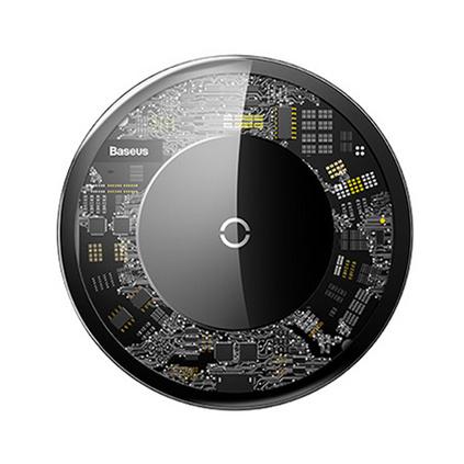 倍思 極簡無線充電器 超薄便捷式玻璃透明款無線充 快充無線充定制