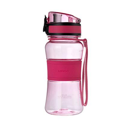 名创优品(MINISO)350ml多彩生活塑料杯便携随心杯子弹盖茶隔运动密封防漏水杯定制