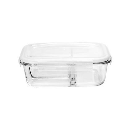 名创优品/MINISO 高硼硅玻璃580ml多格保鲜盒饭盒定制