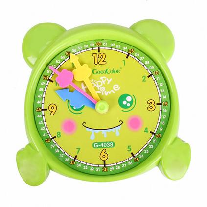 好彩 GOODCOLOR 塑料熊大钟点学习器1-4年级认识时间学具钟表定制