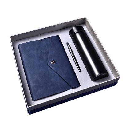 商务礼品套装智能保温杯套装钢笔笔记本数显保温杯套装定制