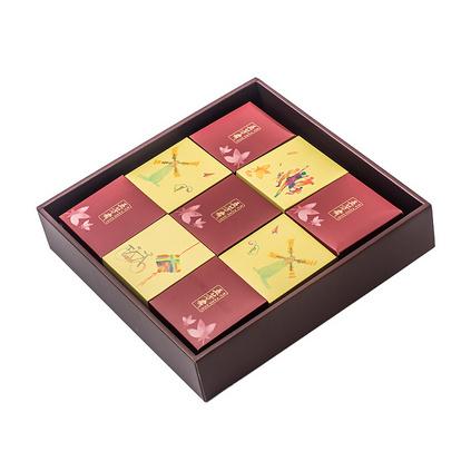 五芳斋广式月饼礼盒装蛋黄莲蓉多口味中秋月饼礼盒定制