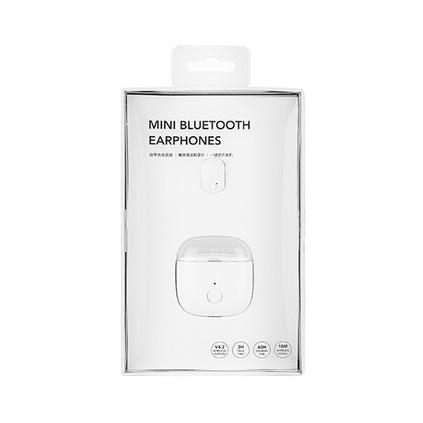 MINISO名創優品 自帶充電倉迷你單耳藍牙耳機 無線耳機入耳式迷你隱形耳機定制