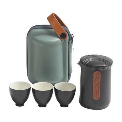 大润窑 夫子旅行茶具套装收纳便捷旅行茶具 礼品茶具套装定制