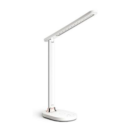 康銘LED臺燈 KM-S081W 支持手機無線快充臥室宿舍床頭閱讀燈定制