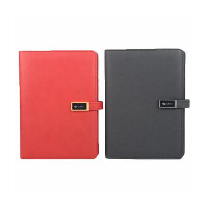 多功能商務筆記本 本子文具充電寶發光記事本 會議記錄本大容量充電記事本定制