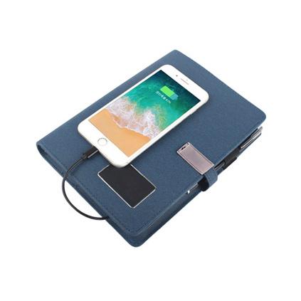 發光充電筆記本  U盤充電筆記本 商務記事本會議記錄本8000mAh充電記錄本定制