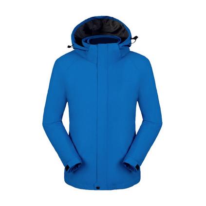 戶外男女沖鋒衣可拆卸兩件套防風防水加絨加厚保暖外套登山服定制