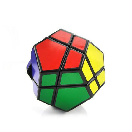 异形贴纸五魔方QJ8019 益智玩具 比赛专用专业魔方定制